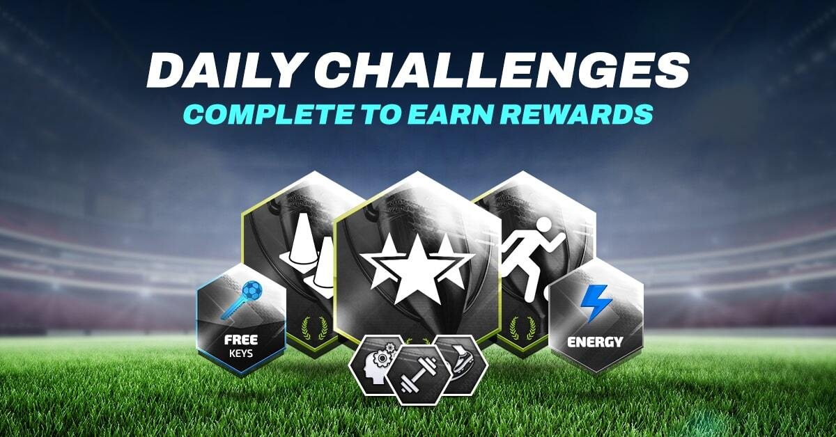 Daily Challenges. Complete to earn rewards.